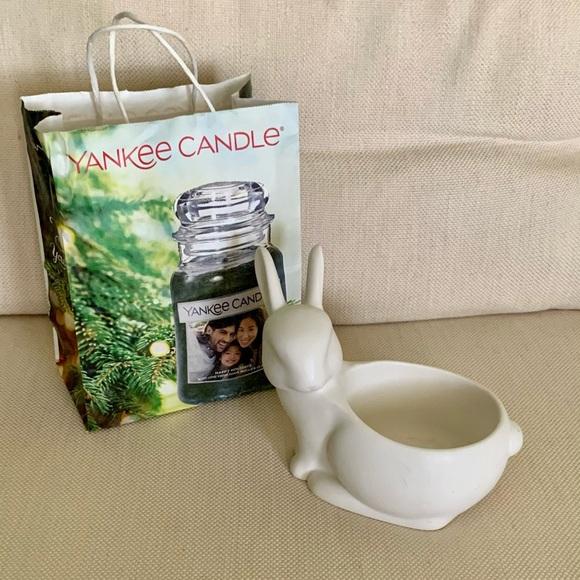 Yankee Candle — Ceramic Rabbit Candle Holder